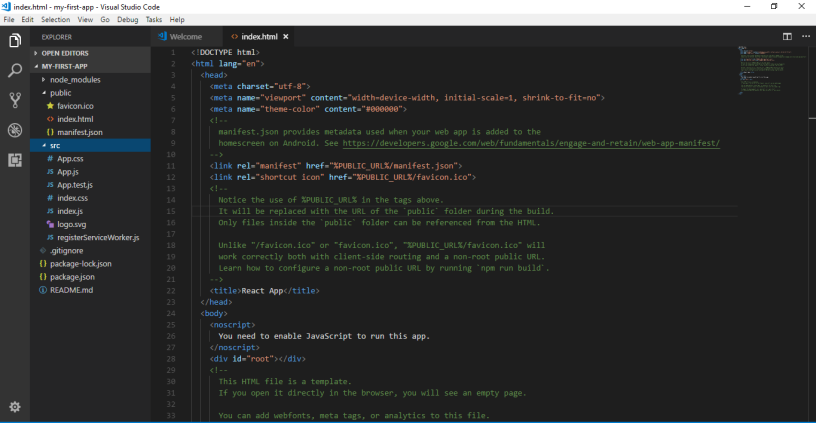 Setup React JS with NodeJS and Visual Studio Code « IT Experts